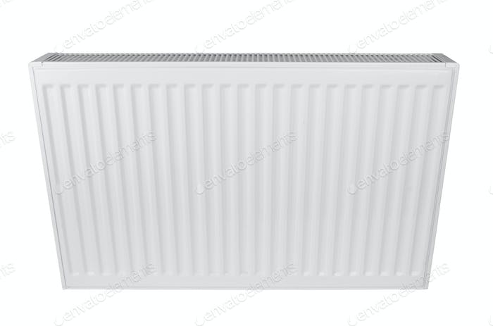 White heating radiator