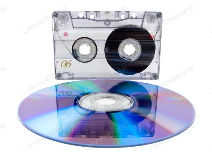 Audio tape cassette and digital compact disc