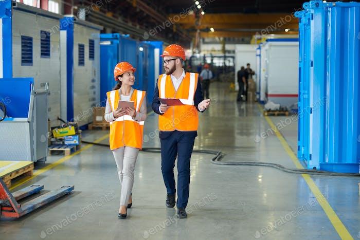 Investor Touring Modern Factory