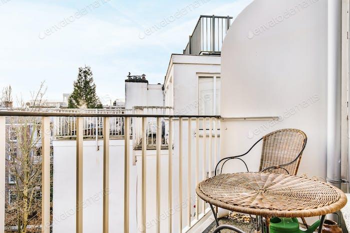 A spacious balcony