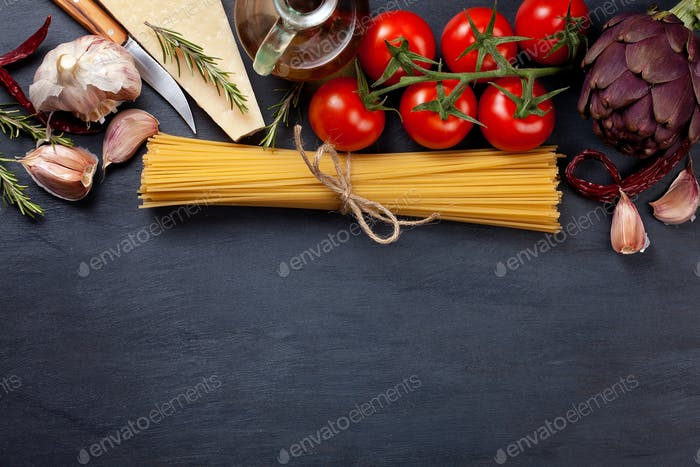 Traditional ingredients of italian cuisine