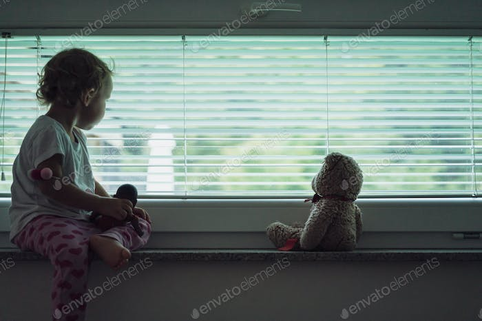 Conceptual image of child abuse and abandonment