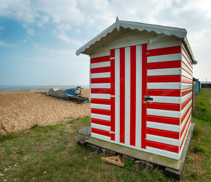 Stripey Beach Hut