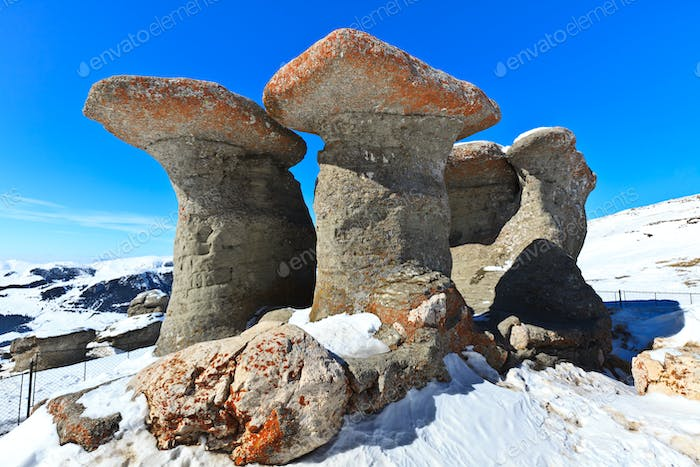 stone group in Carpathian Mountains