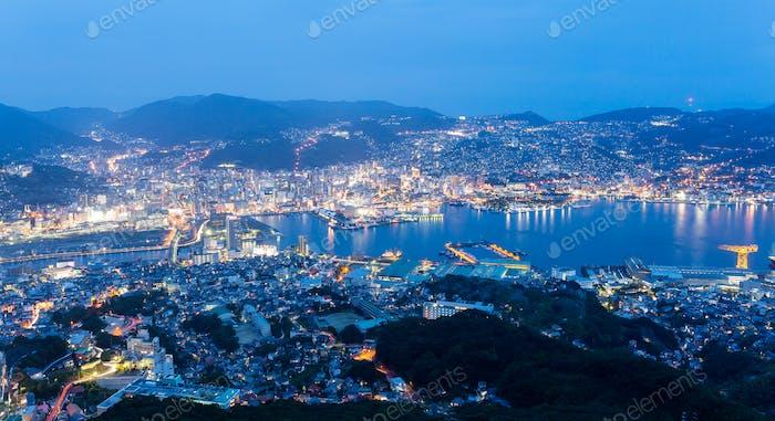 Nagasaki cityscape night