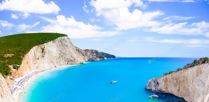 Most beautiful beaches of Greece series - Porto Katsiki in Lefka