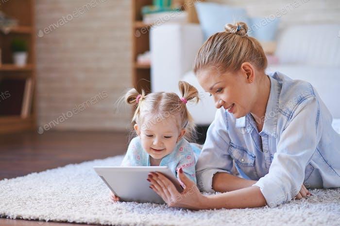 Watching cartoons in the net