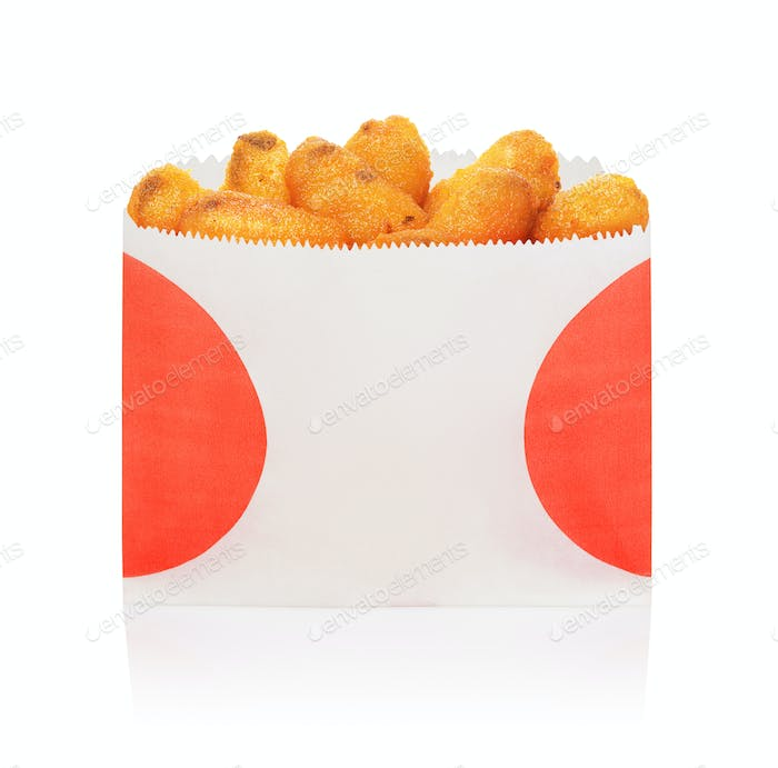 Deep fried mussels isolated