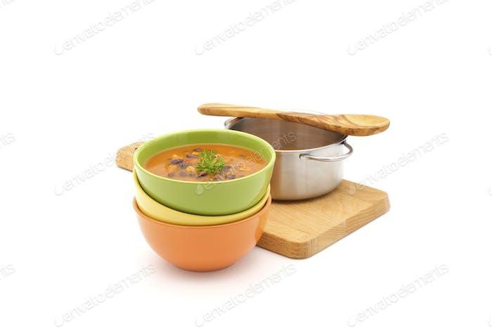 Bowls Black Bean Soup