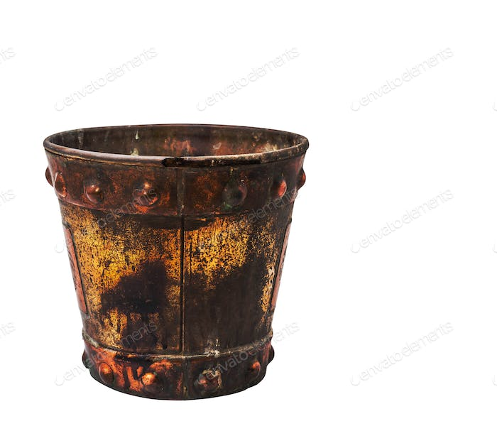 buckets on a white background