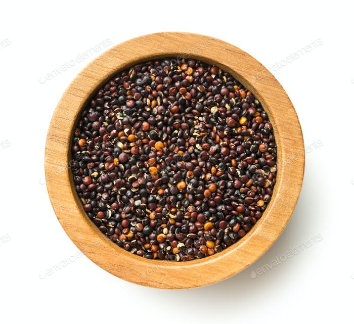 Black quinoa seeds.