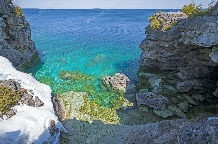 Dramatic Grotto on the Shores of the Great Lakes