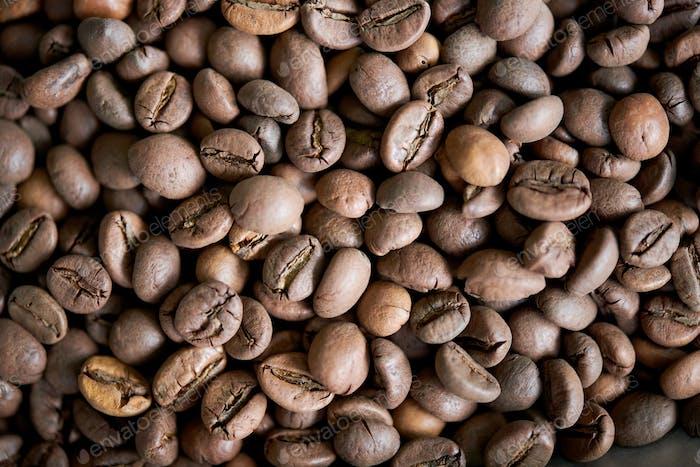 Fondo de Café Marrón en Granos
