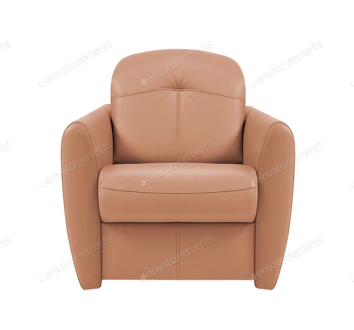 leather chair isolated