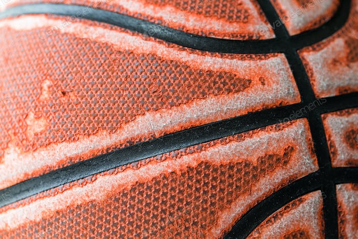 Basketball close up