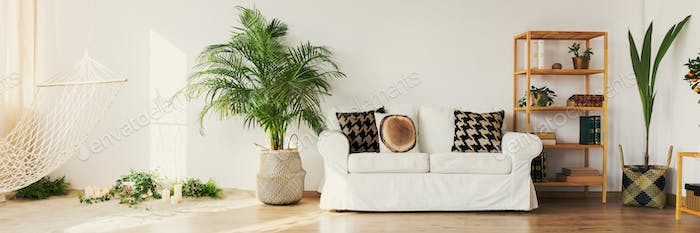 Wooden and white decor
