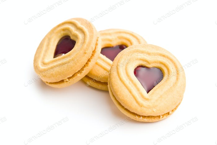 Heart jelly cookies.