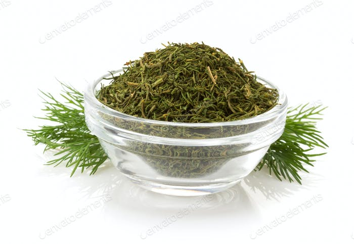 dried  dill in bowl