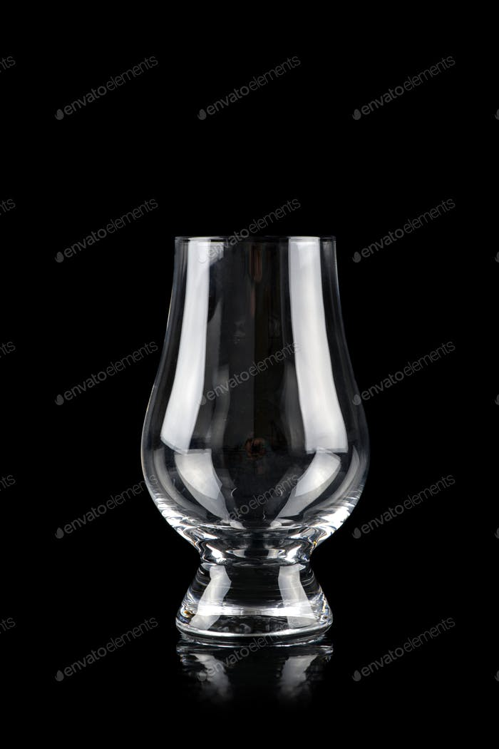 Glass for alcoholic drinks on black