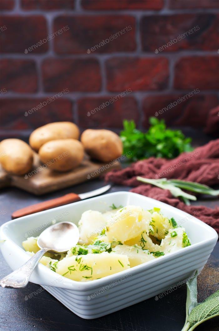 boiled potato