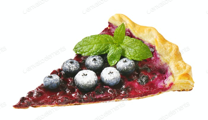 French cuisine - Quark and blueberry tart