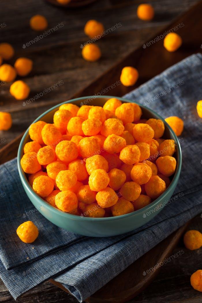 Unhealthy Cheesy Cheese Puffs