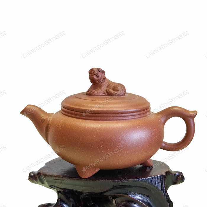 purple sand teapot isolated
