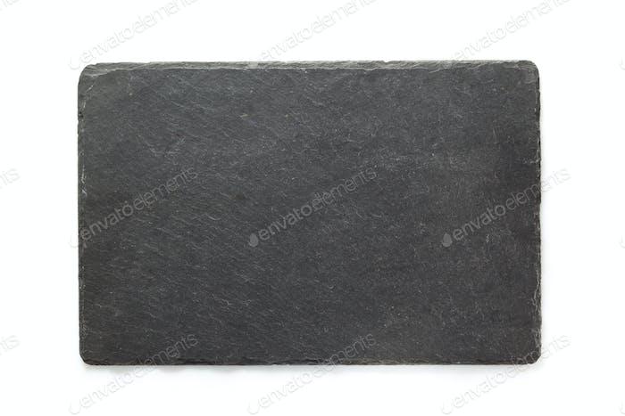 black slate signboard isolated on white