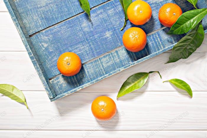 Fresh tangerine fruits