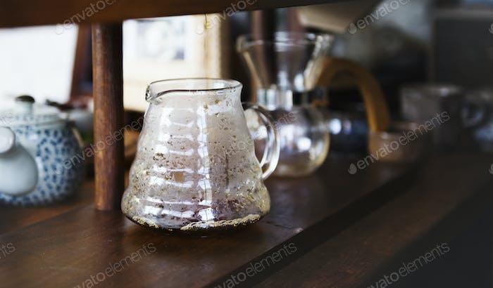 Tea vase on the table