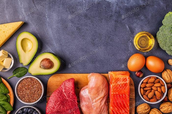 Ausgewogenes Low Carb, gutes Fett, gesundes Essen.