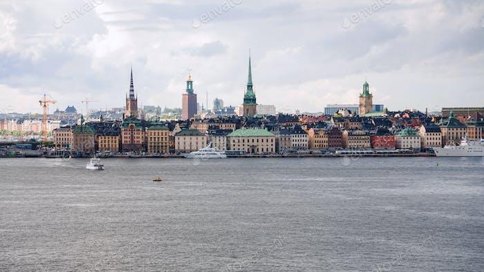 Stockholm Stadt (Galma Stan, Altstadt) vom Meer