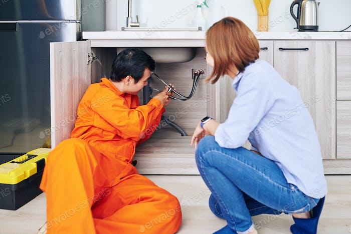 Installationsrohr für Klempner