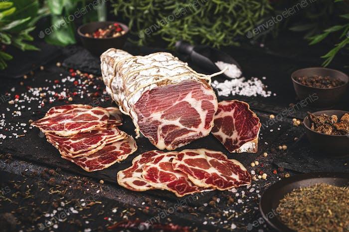 Italienisches Fleisch Coppa