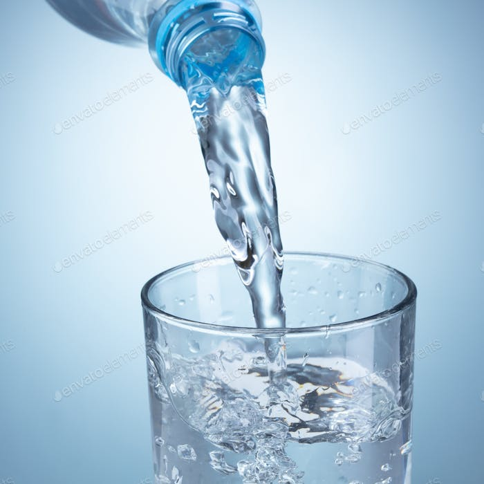 Pouring clean water