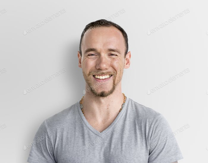 Sportsman Smiling Happiness Face Expression Concept