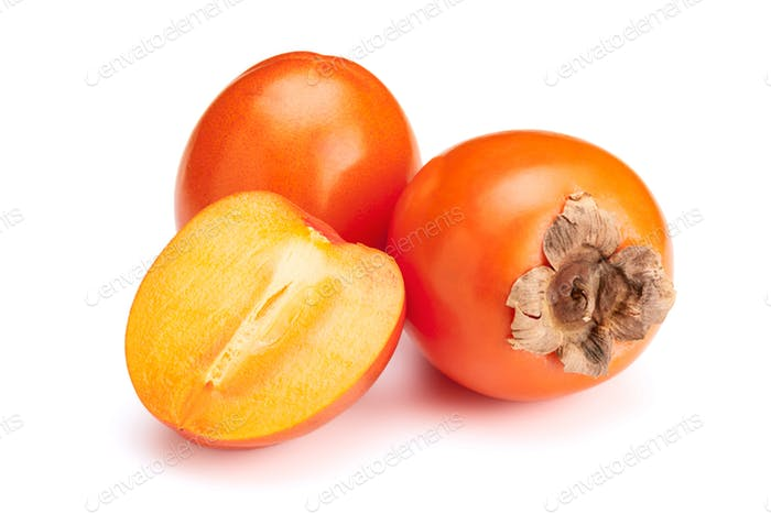 Persimmon isolated