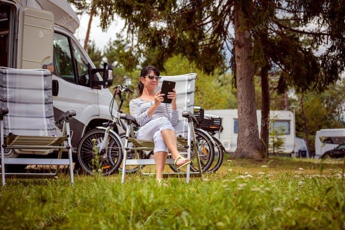 Familienurlaub, Urlaub im Wohnmobil Wohnmobil
