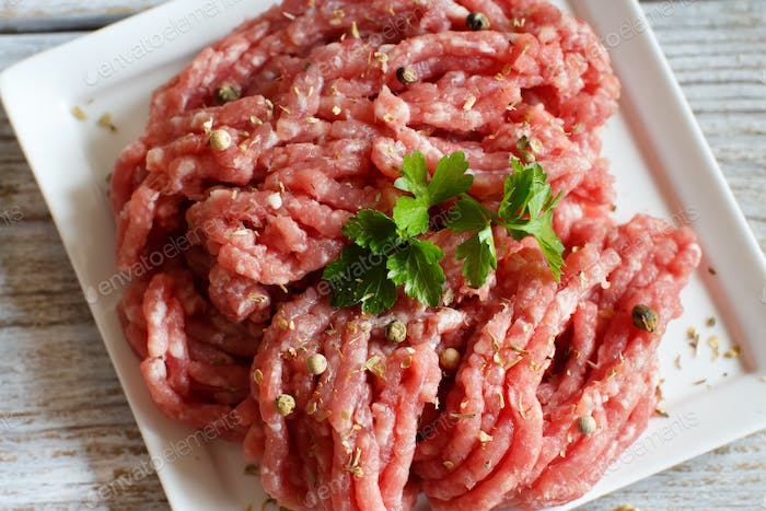 Minced meat with spices