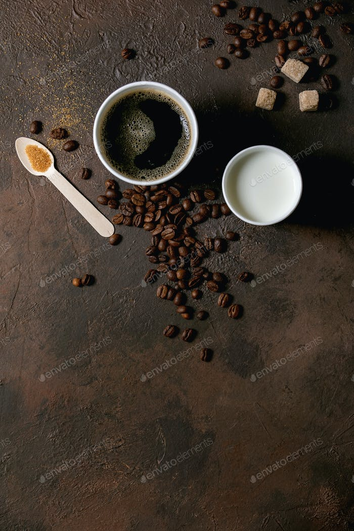 Papptasse Americano Kaffee