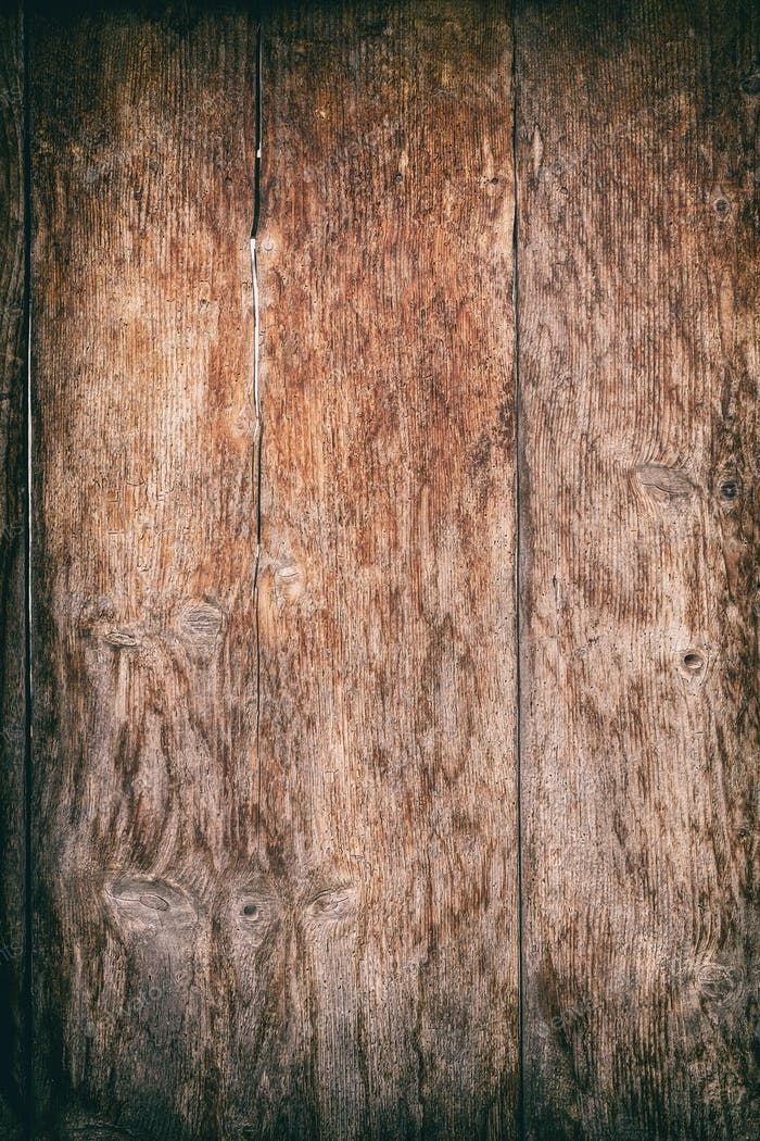 Aged wooden plank fence