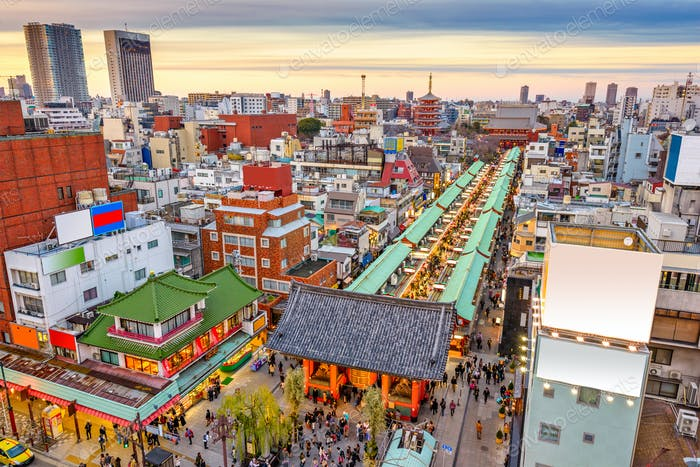 Asakusa, Tokio, Japan Stadtbild