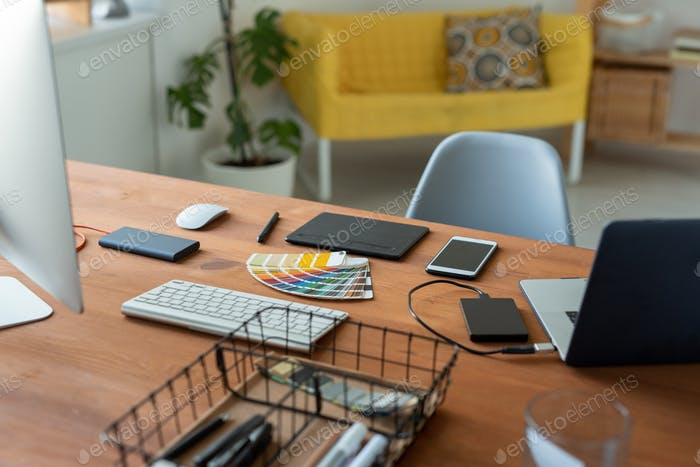Graphic designers workplace