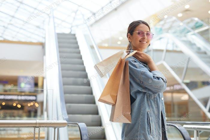 Spaß im Einkaufszentrum haben