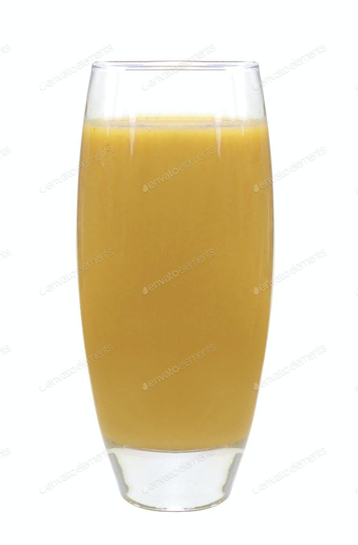 Glass orange juice isolated