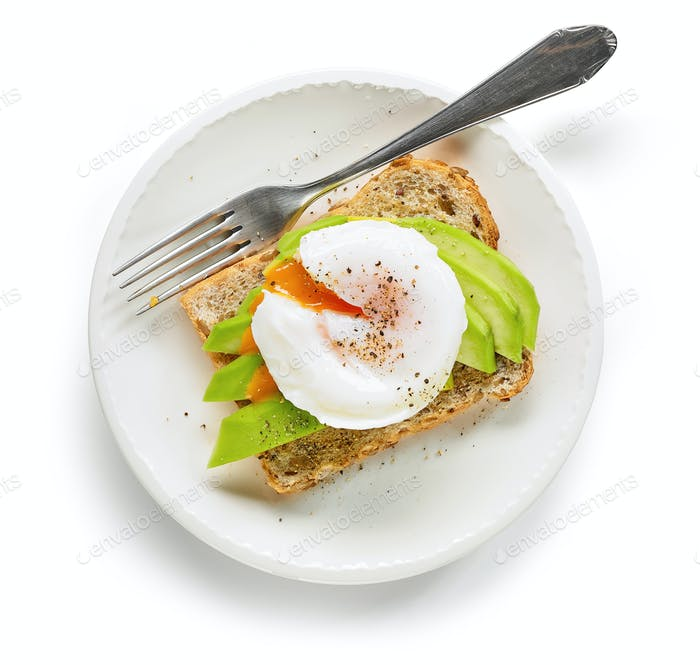 healthy sandwich with poached egg