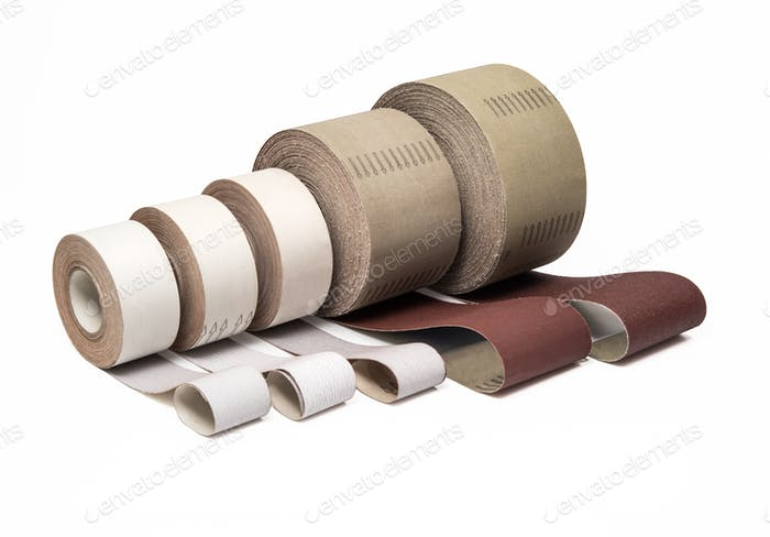 Industrial sand papers in ong rolls