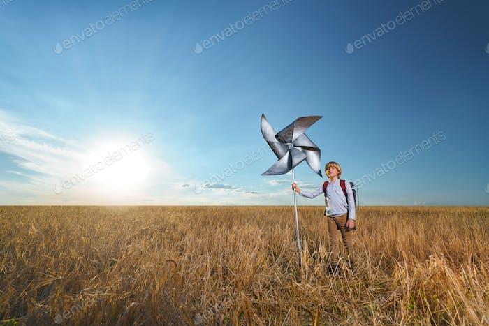 Boy in a wheat field