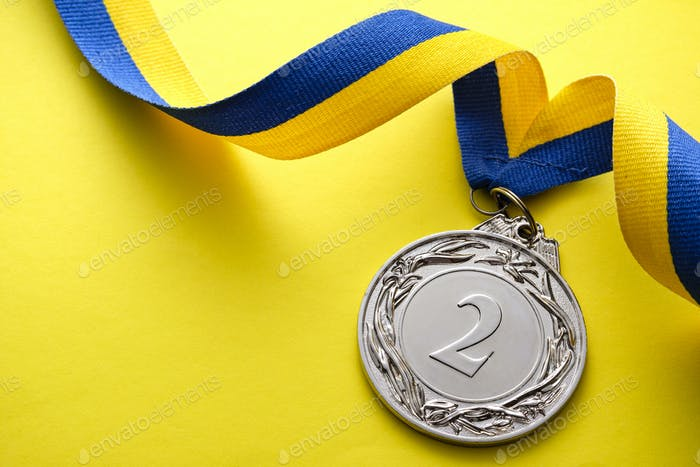 Silver medallion for the 2nd place runner up