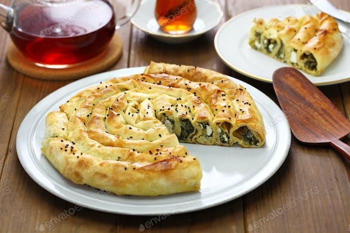 hausgemachte Rollborek, türkische Küche